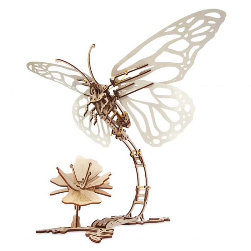Механические 3D пазлы UGEARS Бабочка 70081 (171 деталь)