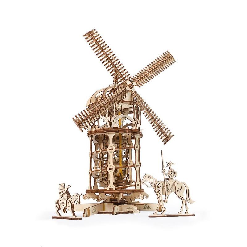 Механические 3D пазлы UGEARS Башня-мельница 70055 (585 деталей)