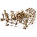 Механические 3D пазлы UGEARS Фабрика роботов 70039 (598 деталей)