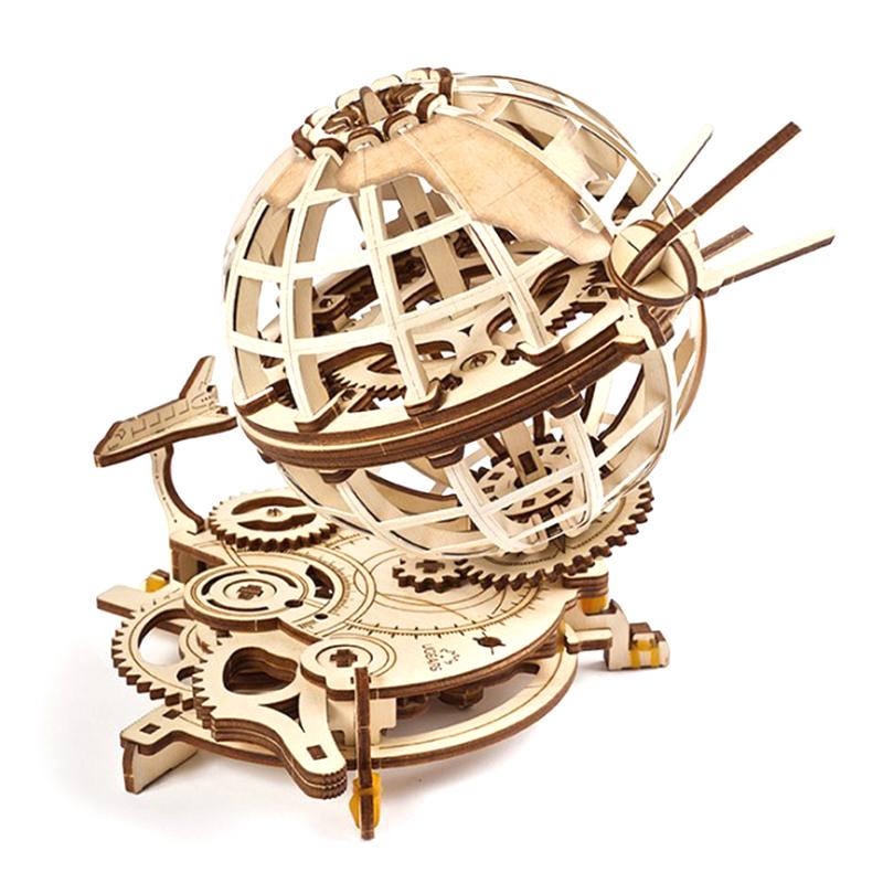 Механические 3D пазлы UGEARS Глобус 70128 (184 детали)