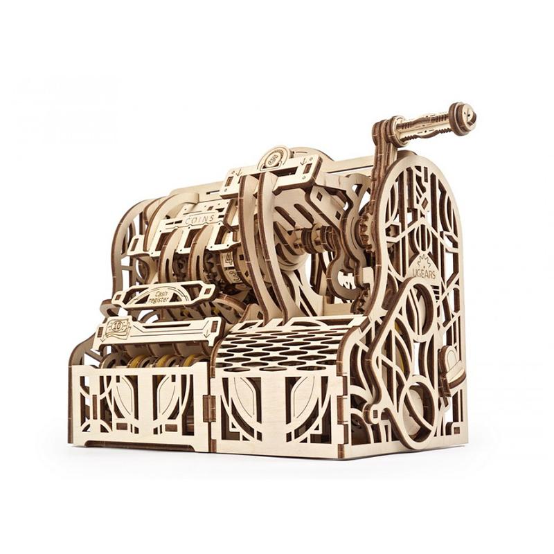 Механические 3D пазлы UGEARS Кассовый аппарат 70136 (405 деталей)