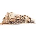 Механические 3D пазлы UGEARS Локомотив c тендером V-Экспресс 70058 (538 деталей)