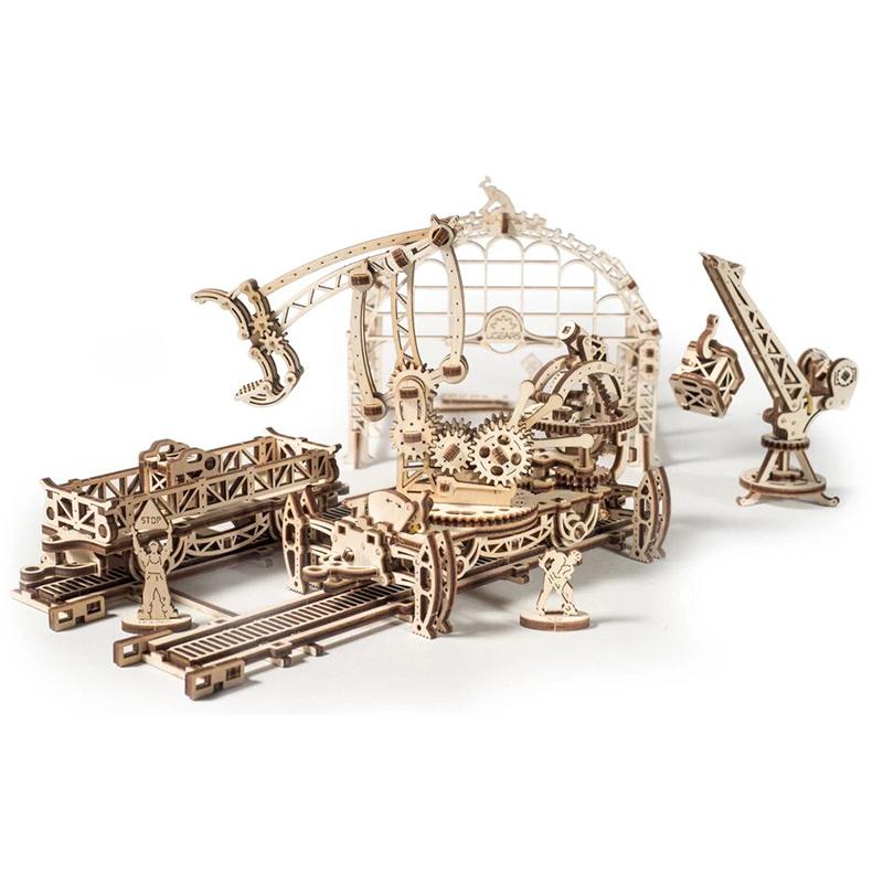 Механические 3D пазлы UGEARS Манипулятор на рельсах 70032 (354 детали)