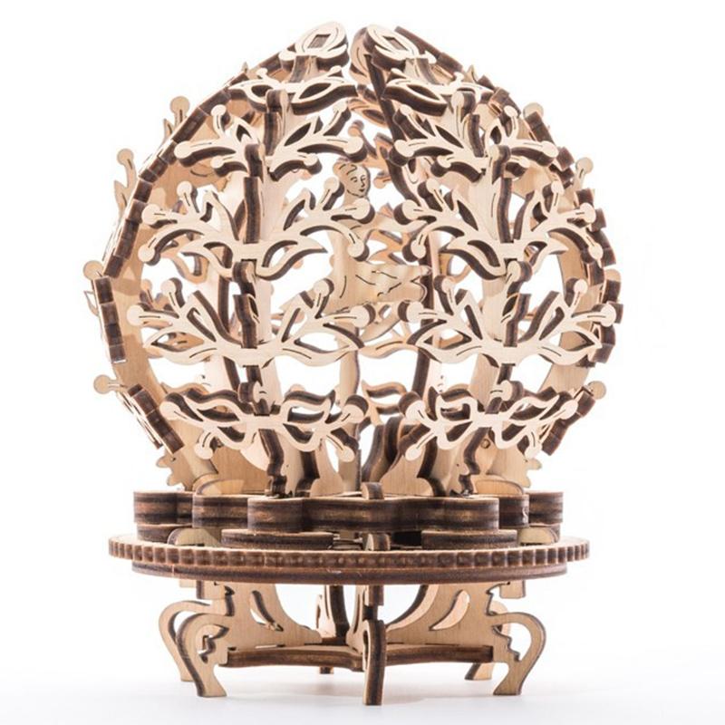 Механические 3D пазлы UGEARS Механический цветок-шкатулка 70019 (101 деталь)