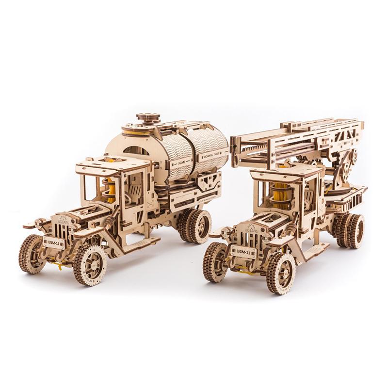 Механические 3D пазлы UGEARS Набор дополнений к «Грузовик UGM-11» 70018