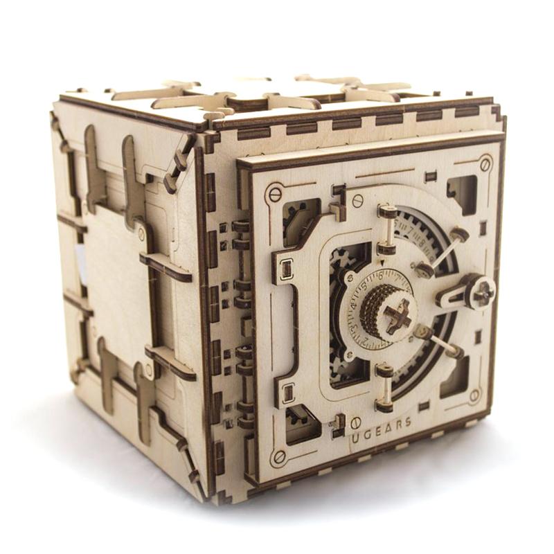Механические 3D пазлы UGEARS Сейф 70011 (179 деталей)