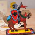 Модели раскраски UGEARS Рыцарь 10009 (8 деталей)
