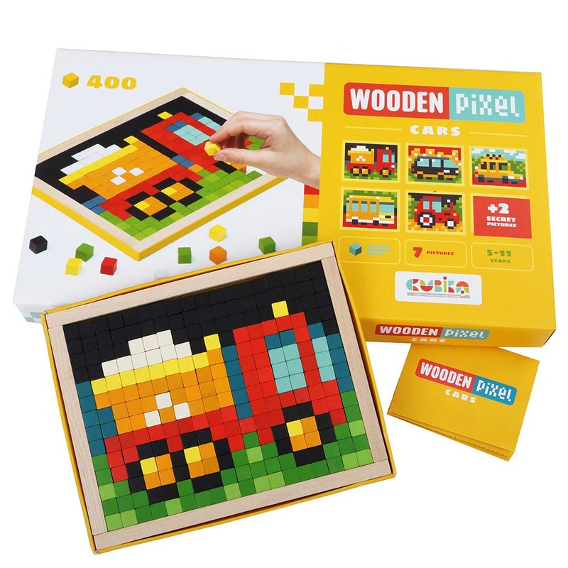 Мозаика «Wooden pixel 4» МАШИНКИ Cubika (400 деталей)