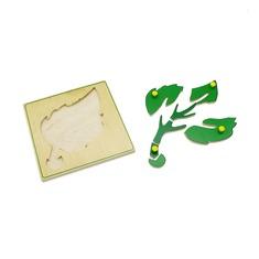 """Мозаика """"Лист и его части"""" 1448 Lam Toys (7 деталей)"""