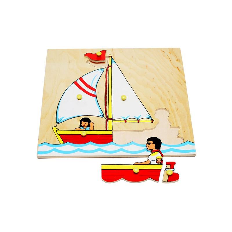 "Мозаика ""Лодка Парусник"" Lam Toys (6 деталей)"