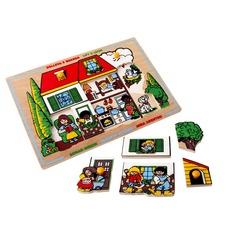 """Мозаика """"Большой дом"""" 1424 Lam Toys (10 деталей)"""