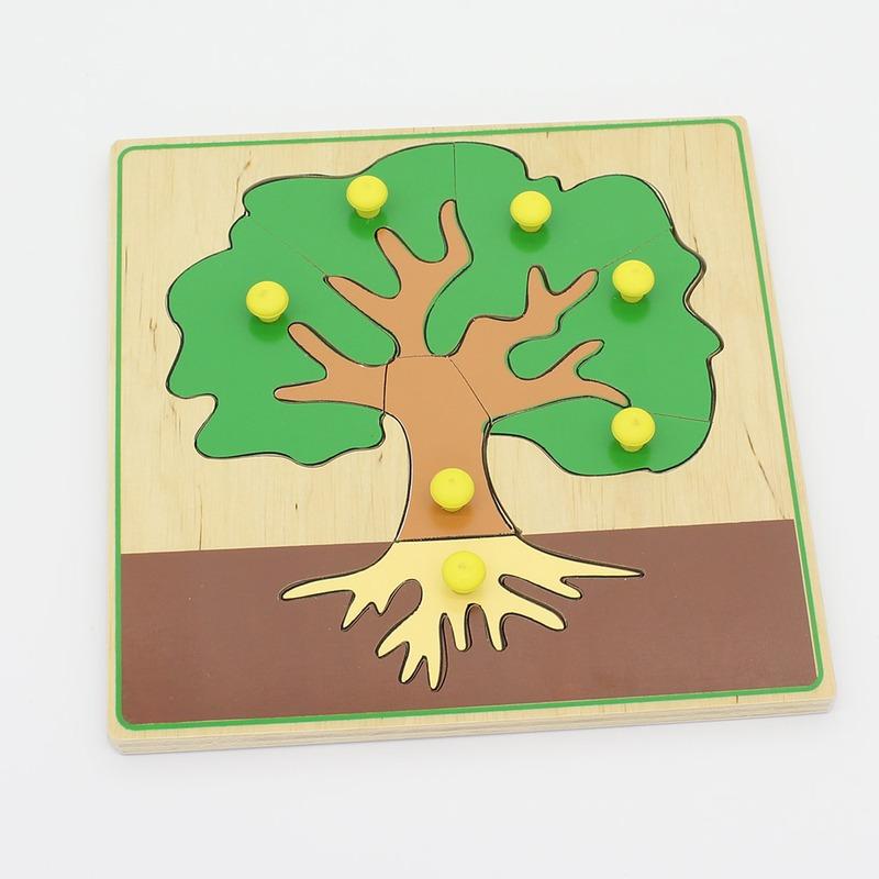 """Мозаика """"Дерево и его части"""" Lam Toys 10 деталей"""