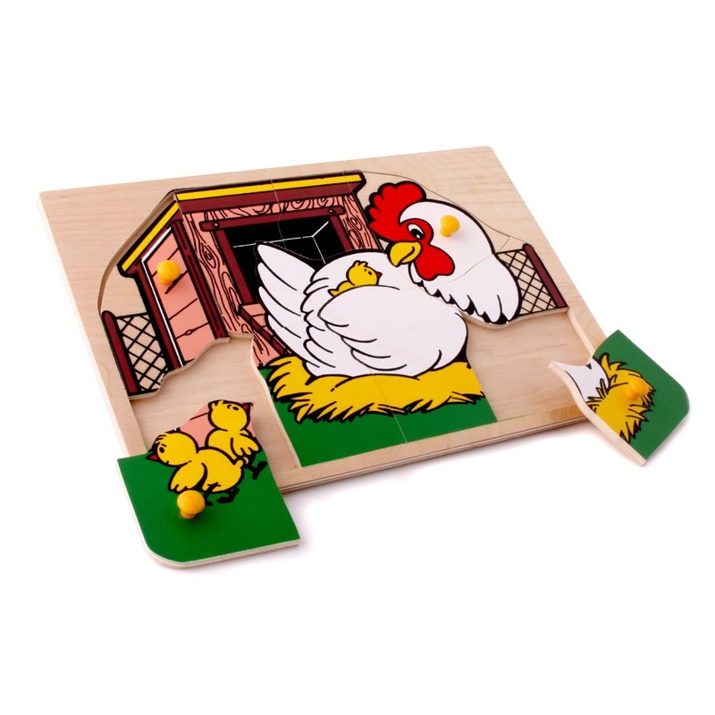 "Мозаика ""Курочка"" Lam Toys (10 деталей)"