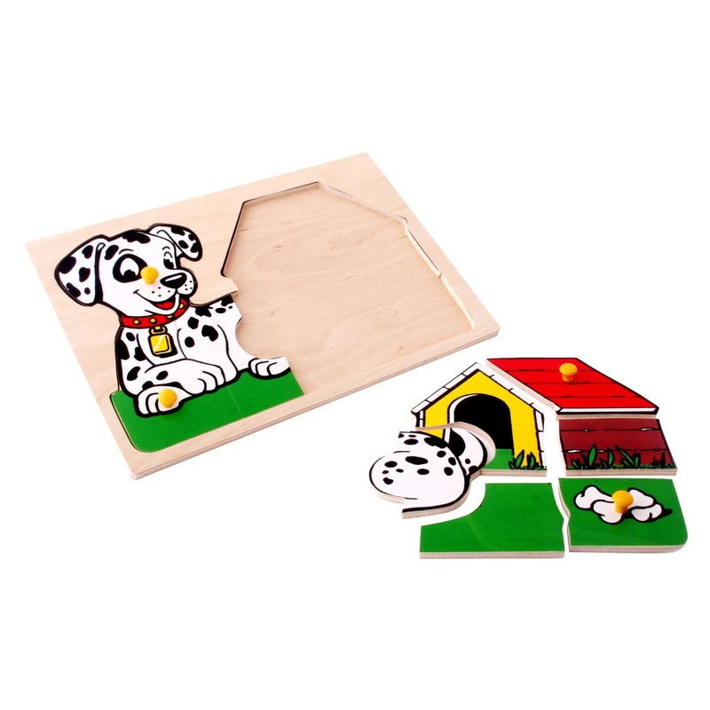 """Мозаика """"Пес с будкой"""" Lam Toys (9 деталей)"""