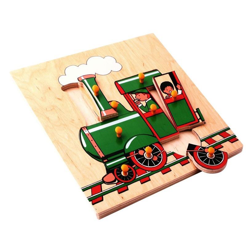 """Мозаика """"Поезд"""" Lam Toys (9 деталей)"""