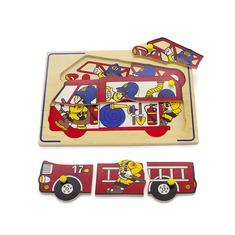 """Мозаика """"Пожарные"""" 1427 Lam Toys (9 деталей)"""