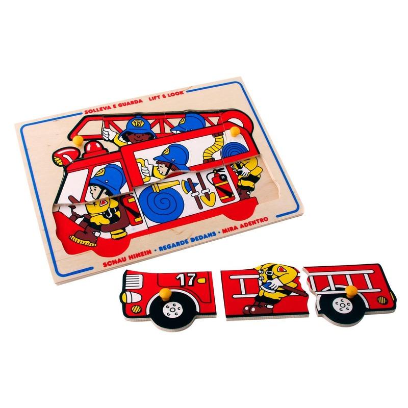 """Мозаика """"Пожарные"""" Lam Toys (9 деталей)"""