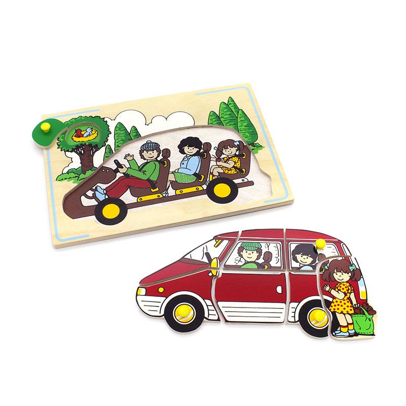 """Мозаика """"Семейный автомобиль"""" 1425 Lam Toys (8 деталей)"""