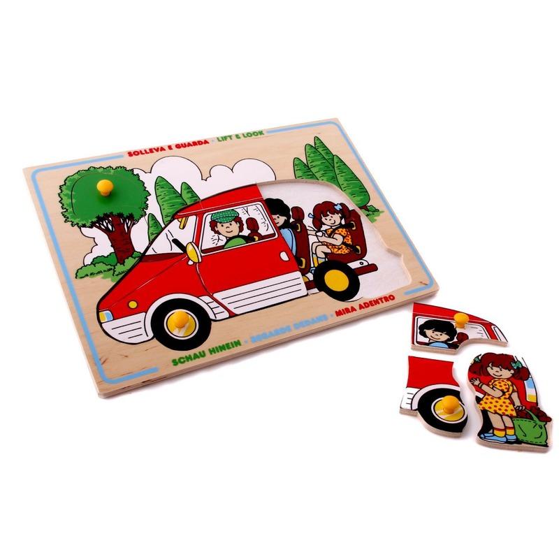 """Мозаика """"Семейный автомобиль"""" Lam Toys (8 деталей)"""