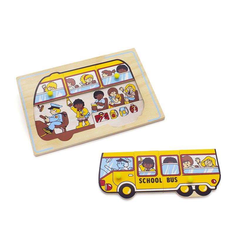 """Мозаика """"Школьный автобус"""" 1426 Lam Toys (9 деталей)"""