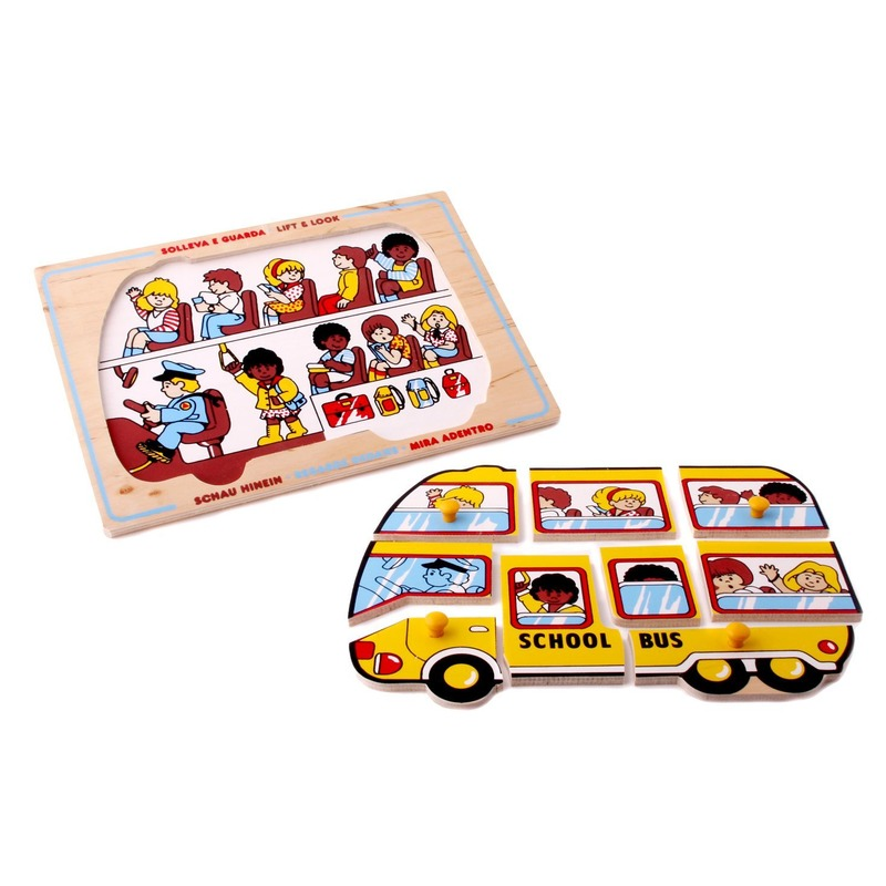 """Мозаика """"Школьный автобус"""" Lam Toys (9 деталей)"""