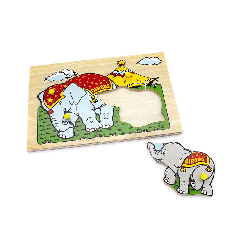 """Мозаика """"Слоны"""" 1414 Lam Toys (9 деталей)"""
