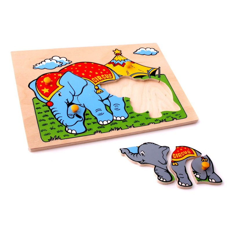 """Мозаика """"Слоны"""" Lam Toys (9 деталей)"""