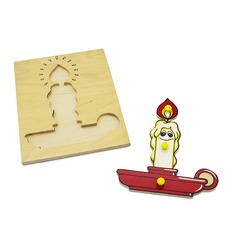 """Мозаика """"Свеча"""" 1001 Lam Toys (3 детали)"""