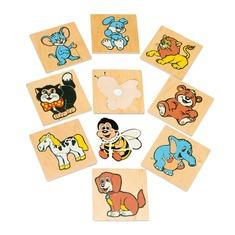 """Мозаика """"Забавные животные"""" 1480 Lam Toys (50 деталей)"""