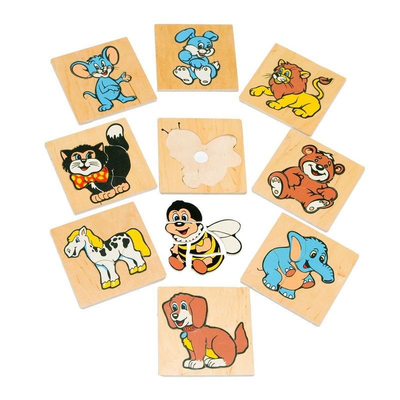 """Мозаика """"Забавные животные"""" Lam Toys (50 деталей)"""