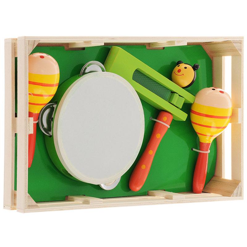 """Музыкальный набор 2 """"Игрушки из дерева"""" Д094"""