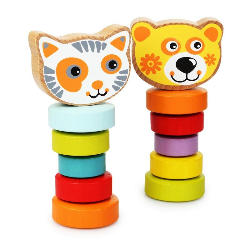 """Набор деревянных игрушек """"Гибкие животные"""" Cubika"""