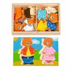 Набор Два медведя Д182 Игрушки из дерева 36 деталей