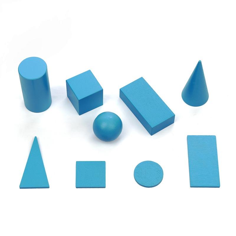 Набор геометрических тел и фигур 40мм. Komarovtoys 9 деталей