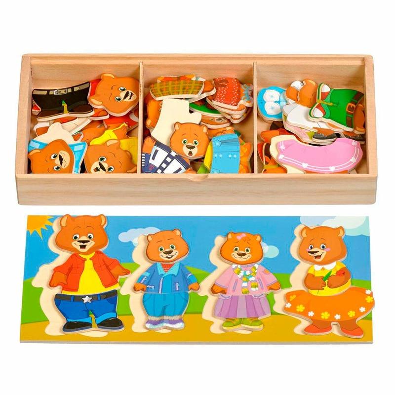 """Набір ведмедиків 4 """"Іграшки з дерева"""" Д165 72 деталі"""