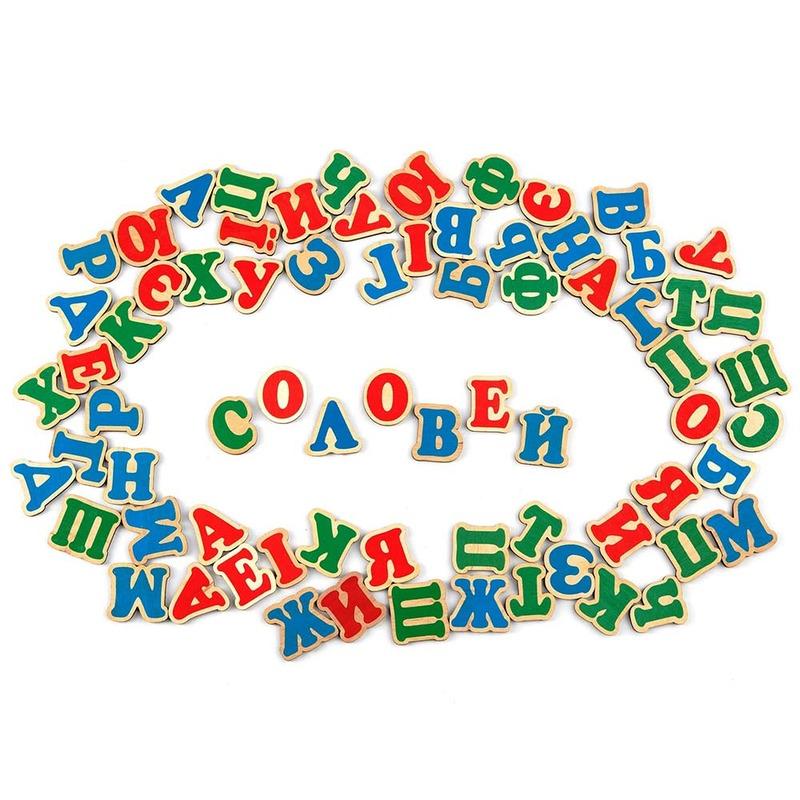 Набор украинский алфавит на магнитах (72 буквы) Komarovtoys
