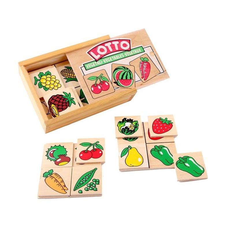 """Настольная игра лото """"Овощи, фрукты, ягоды"""" Lam Toys (30 деталей)"""