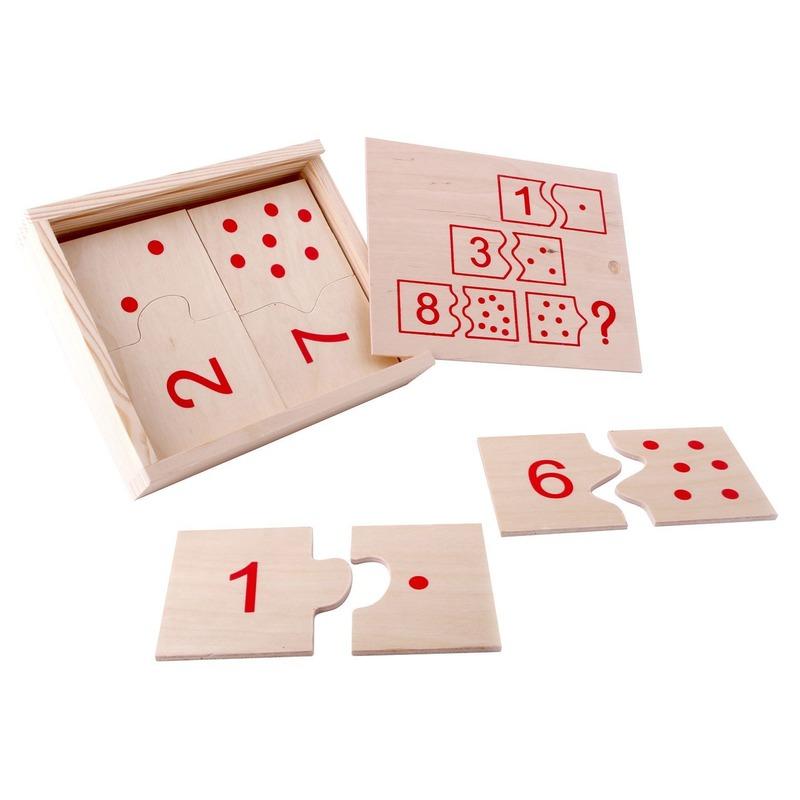 """Настольная игра домино """"Числа и цифры"""" математика Lam Toys (20 деталей)"""