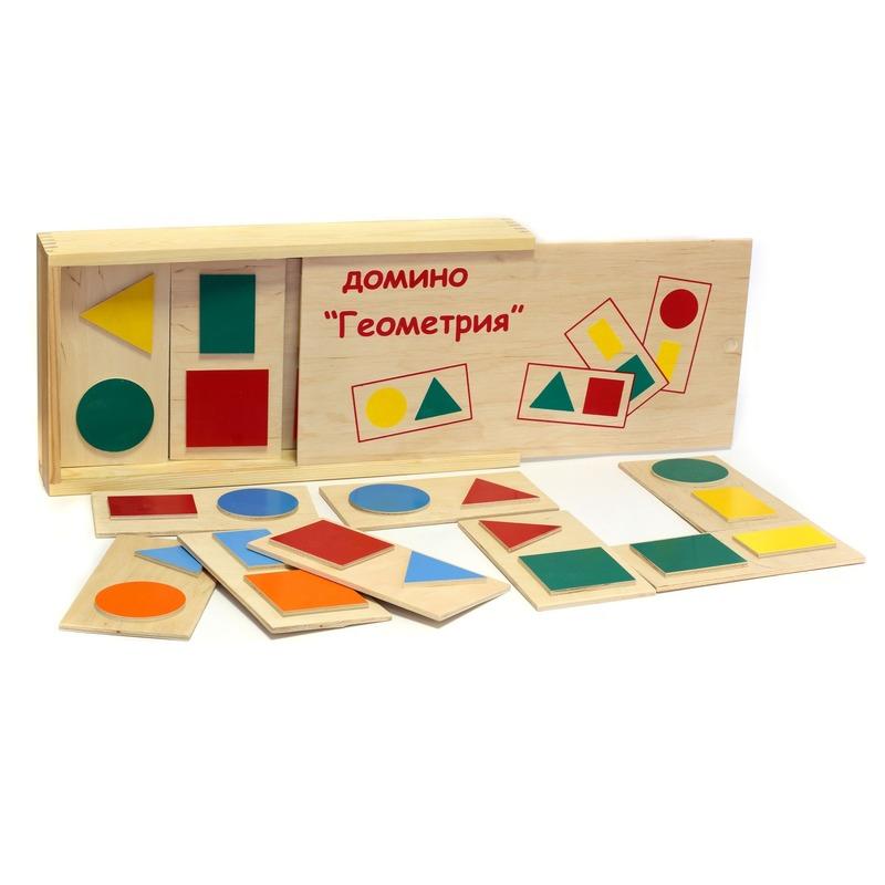 """Настольная игра домино """"Геометрия"""" Lam Toys (20 деталей)"""