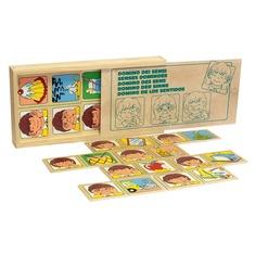"""Настольная игра домино """"Органы чувств"""" 1505 Lam Toys (20 деталей)"""
