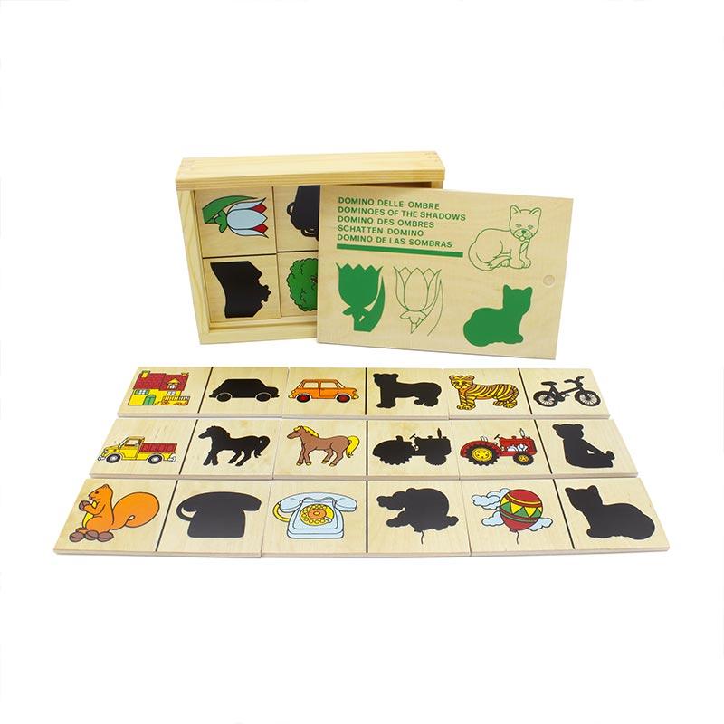 """Настольная игра домино """"Тени"""" 1502 Lam Toys (20 деталей)"""