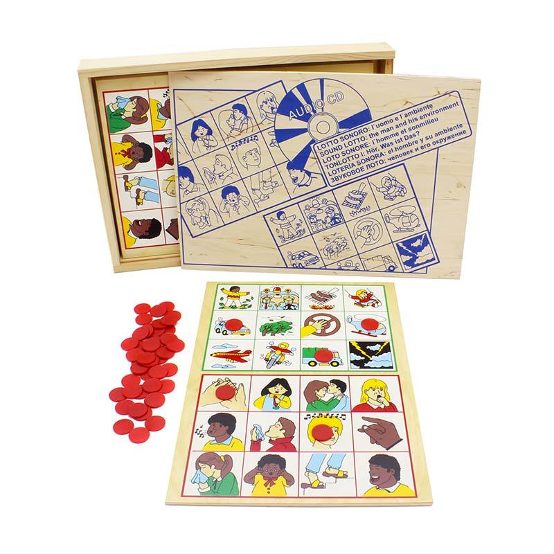 """Настольная игра лото """"Человек и его окружение"""" 1604 Lam Toys (4 детали + диск)"""