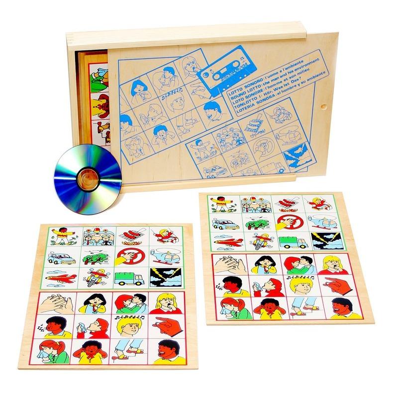 """Настольная игра лото """"Человек и его окружение"""" Lam Toys (4 детали + диск)"""