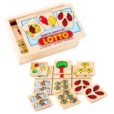 """Настольная игра лото """"Количество"""" 1611 Lam Toys (28 деталей)"""