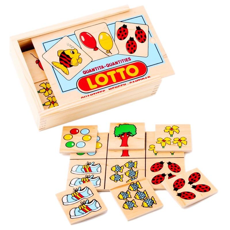 """Настольная игра лото """"Количество"""" Lam Toys (28 деталей)"""