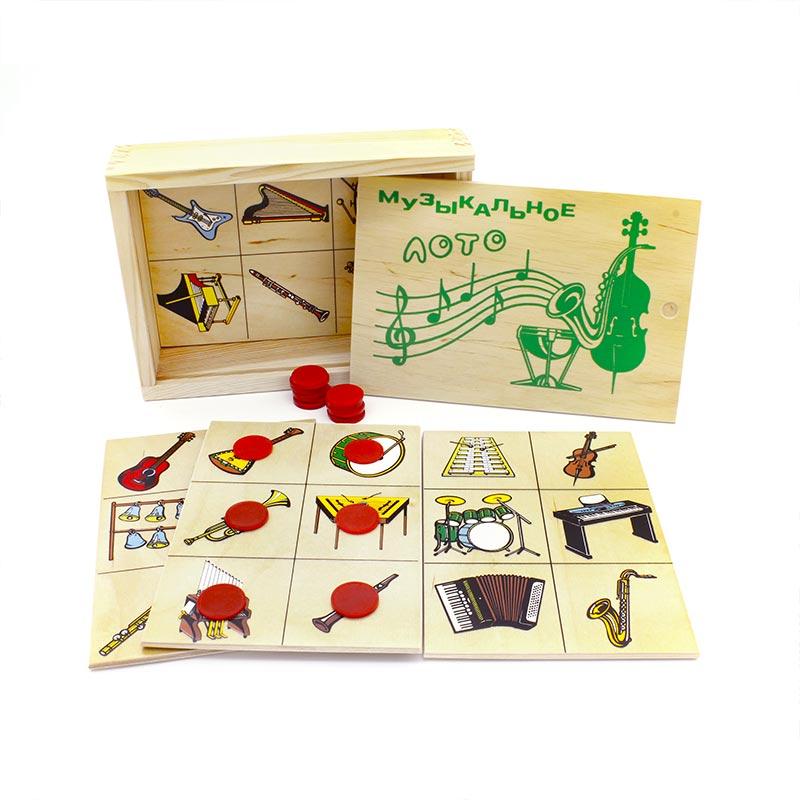 """Настольная игра """"Звуки музыкальных инструментов"""" 1605 Lam Toys (4 детали + диск)"""