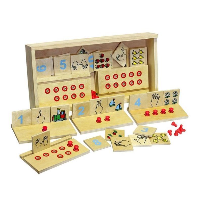 """Настольная игра """"Учимся считать"""" Lam Toys (40 деталей)"""