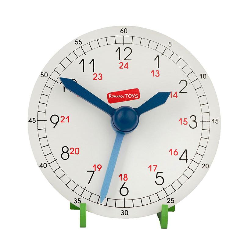 Обучающие деревянные часы Komarovtoys