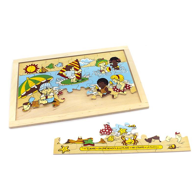 """Пазл """"Пляж"""" 1306 Lam Toys (40 деталей)"""