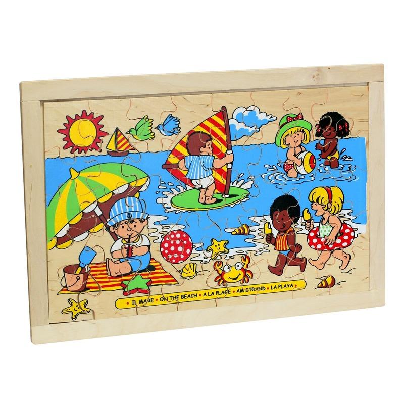"""Пазл """"Пляж"""" Lam Toys (40 деталей)"""